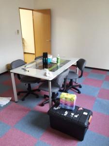 1部屋は来客対応や会議用スペース
