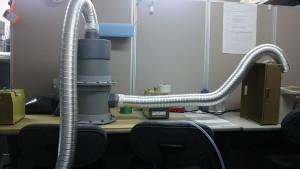 有機溶剤臭気対策のデモテスト