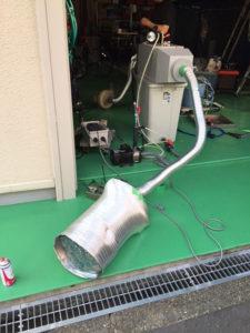 塩ビ溶接等、全て自作のデモテスト脱臭装置