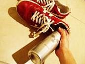 靴にスプレー
