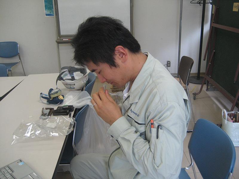 臭気判定士による測定/臭気判定