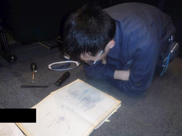 臭気調査-図面の確認-
