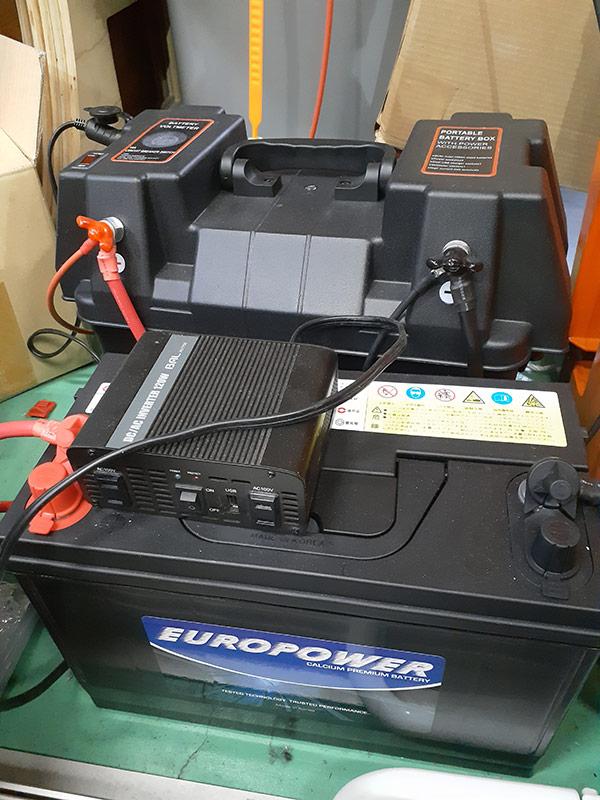 バッテリーを新しくしては連続運転と記録